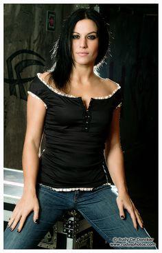 Cristina Scabbia - Lacuna Coil.. this hair light rocks
