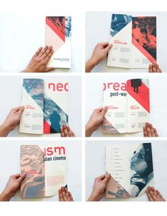 Creative Brochure, Layout, Italian, Neorealism, and Cinema image ideas & inspiration on Designspiration Design Brochure, Creative Brochure, Brochure Layout, Brochure Examples, Brochure Template, Editorial Design Layouts, Pamphlet Design, Leaflet Design, Booklet Design