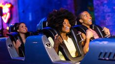 Fast Pass? Hollywood Studios People in cars of the Rock 'n' Roller Coaster Starring Aerosmith at Disney's…
