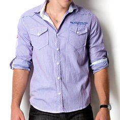Camisa Manga Longa 110015 AZUL