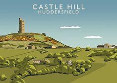 Castle Hill, Huddersfield Art Print (A3) Chequered Chicken https://www.amazon.co.uk/dp/B073PCX4M5/ref=cm_sw_r_pi_dp_x_tWMwzbKYN0069