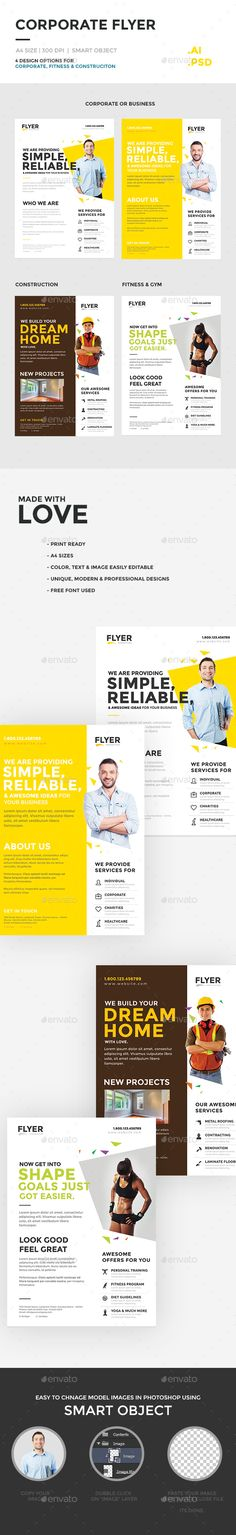 Corporate Flyer Multipurpose  PSD Template • Download ➝ https://graphicriver.net/item/corporate-flyer-multipurpose/14318431?ref=pxcr