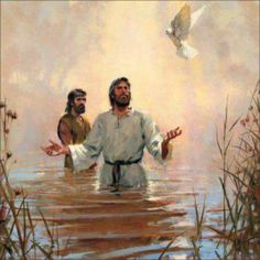 God's own voice spoke from the heavens when Jesus was baptized, announcing that this was his Son the beloved, whom God had approved. The holy spirit, not a person, but God's peaceful and enlightening active force, was symbolized by a dove as it descended upon Jesus. At this point Jesus was able to remember all of his previous life in heaven with Jehovah.