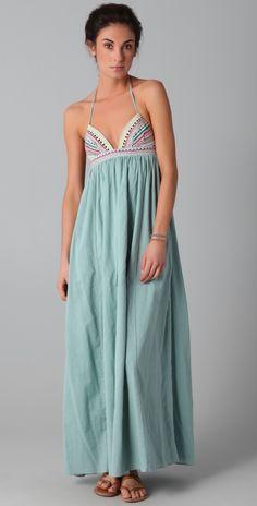 ☆Mara Hoffman Embroidered Halter Maxi Dress | SHOPBOP