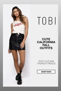 Cute California fall outfits including this trendy faux leather bodycon skirt for women from TOBI. The best place to buy affordable autumn trendsetting edgy clothing and attire for ladies. Shop top fall fashion trends for teens, women, and juniors. #shoptobi #fallfashion #falltrends #falloutfits #autumnfashion #womensfashion #californiafashion #bodyconskirts #skirts #miniskirts #skirtoutfits Autumn Fashion Women Fall Outfits, Fall Fashion Trends, Edgy Outfits, Skirt Outfits, Edgy Clothing, California Fashion, Street Style Trends, Body Con Skirt, Beachwear For Women