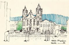 Urban Sketchers Brasil: Recife e Salvador, tudo junto e misturado