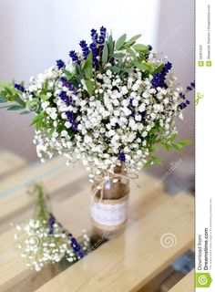 Fragrant Bouquet Of Baby's Breath With Eucalyptus And Lavender ...   For Olivia. Add 3 lavender roses