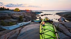 If you're interested in going kayak camping, this guide will take you through every step of the process, helping you get out the door and into the unknown. Kayak Camping, Canoe And Kayak, Whitewater Kayaking, Canoeing, Inflatable Kayak, G Adventures, The Great Outdoors, Trip Planning, Ontario