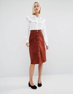 Gestuz Daya Suede Popper Skirt