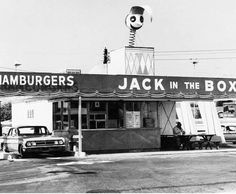 The first Jack in the Box on 63rd Street and El Cajon Boulevard in San Diego. This was the first hamburger stand to have intercom technology and a drive-thru window. So cool!