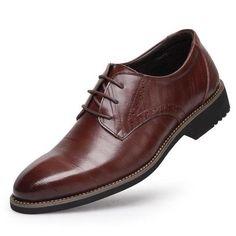 100% Genuine Leather Mens Dress Shoes, Brand Men Wedding Shoes