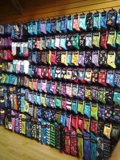 We've expanded the Socksmith displays so they are, frankly, close to 1/3 of this wall now.