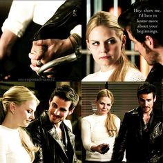 once upon a time 4x05 - let's talk about this scene. She opened up to him, she showed him her past. He wanted to know more!