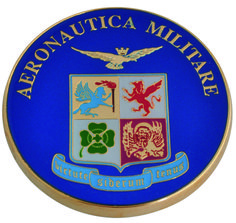 Fermacarte in metallo smaltato - Gadget ufficiali Aeronautica Militare Italiana