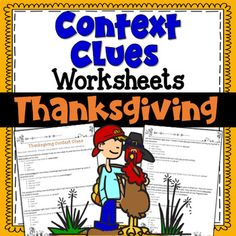 Context Clues Worksheets- Thanksgiving | PDF and Digital | Distance Learning