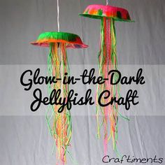 Glow in the dark jellyfish craft summer diy crafts diy crafts summer crafts glow in the dark jellyfish Craft Activities, Preschool Crafts, Fun Crafts, Diy And Crafts, Arts And Crafts, Glow Crafts, Classroom Crafts, Autism Activities, Kindergarten Crafts