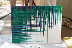 I've seen crayon art but never like this! It's so cool and when I make my own, I am going to try to make it like this one!!1
