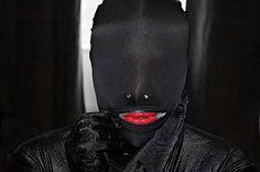 Black Hood Red Lips by Chris Black