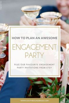 Planning an Engagement Party Plus Engagement Party Invitations from Etsy | SouthBound Bride