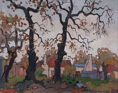 Three Bare Oaks, Autumn, Newlands, 1969 by Gregoire Boonzaier on Curiator, the world's biggest collaborative art collection. South Africa Art, Digital Museum, African Artists, Collaborative Art, Abstract Backgrounds, Artist At Work, Love Art, Landscape Paintings, Gallery