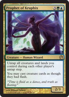 Prophet-of-Kruphix-x4-Magic-the-Gathering-4x-Theros-mtg-card-lot-rare-blue-green