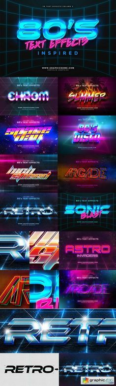 vaporwave text Text Effects for Photoshop by Zeppelin Graphics Layout Design, Gfx Design, Retro Design, Logo Design, Type Design, Typography Fonts, Graphic Design Typography, Lettering, Graphic Art