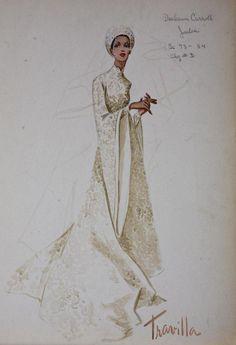 William Travilla - Costumes - Esquisses et Croquis - Diahann Carroll - Julia