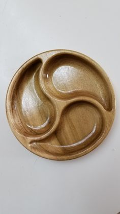 Nut & Candy Dish. A simple but elegant serving dish made from poplar wood and cut on a CNC router.