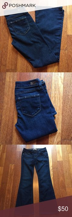 "Paige petite size 29 Canyon Boot Cut Jeans Paige Jeans Petite size 29 Canyon Boot Cut. Great looking jeans in a cotton poly spandex for a nice fit. Low Rise waist measuring  15"" inseam approx. 31"" Paige Jeans Jeans Boot Cut"