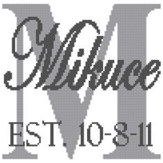 Name with Initial Cross Stitch Pattern