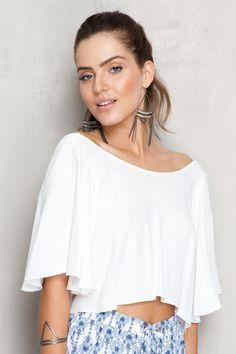 blusa amarração com ilhós costas | Dress to