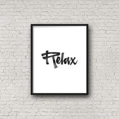 Relax poster Inspiration Wall Art Home Decor от PrintsDigital