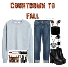 """CountDown to Fall"" by musicpop ❤ liked on Polyvore featuring MANGO, 7 For All Mankind, Nak Armstrong, Alexander McQueen, Repossi, BERRICLE, NYX, Bobbi Brown Cosmetics, MAC Cosmetics and le top"