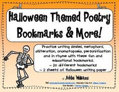 FREE Halloween themed bookmarks with some poetry practice added for good measure!