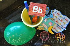 Lots of ideas for our alphabet boxes. Plus other toddler activities.