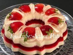 Gelatina de Nieve Napolitana Deliciosa! - YouTube Jello Pudding Desserts, Flan Dessert, Jello Cake, No Bake Desserts, Just Desserts, Delicious Desserts, Gelatin Recipes, Jello Recipes, Dessert Recipes