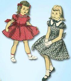 1950s Cute Little Girl's Slip Dress Pattern Vintage Advance Design Size 8 | eBay