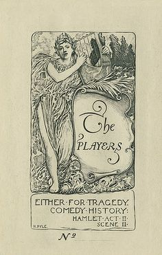[Bookplate of The Players] by Pratt Libraries, via Flickr