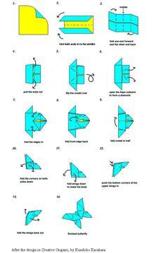 idée origami papillon