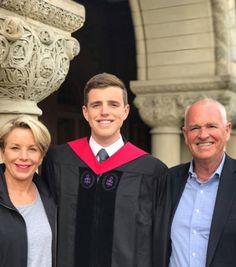 With parents Dennis & Joan Row at Harvard
