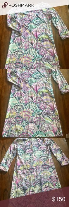 NWOT Lilly Pulitzer Linden dress Small Linden dress in Serene Blue If Shello. Size Small Lilly Pulitzer Dresses Mini