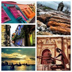 Collage de Cartagena de Indias: Murallas, Calles, Balcones de Cartagena, Bahia de Cartagena.