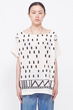 UZI Disko Kimono Top (Ivory)