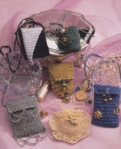 Amulet Bags Crochet Patterns 12 Designs