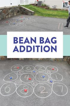 Phonics Games for First Grade - Susan Jones Teaching - Bean bag addition is a fun game to play with your first and second grade students when the weather - Kindergarten Math Games, Phonics Games, Fun Math, Learning Activities, Maths Games Ks1, Therapy Activities, Preschool, Primary Maths Games, Weather Kindergarten