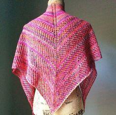 Easy Knit Lace Shawl