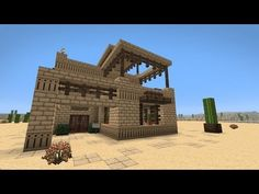 ▶ How To Build A Middle Eastern Desert House - Minecraft Tutorial - YouTube