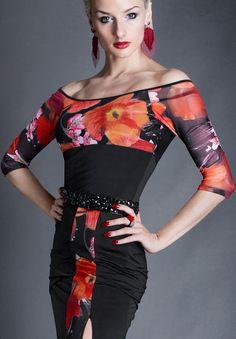Espen Dandelion Top ES16T6    Dancesport Fashion @ DanceShopper.com Dance Outfits, Dance Dresses, Champion Wear, Tango Dress, Casual Outfits, Casual Clothes, Dance Wear, Fitness Fashion, Argentine Tango