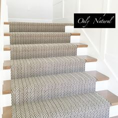 Only Natural | Tuftex - staircase with herringbone runner