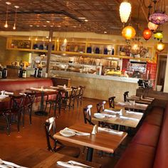 Tin Roof Bistro (Manhattan Beach, CA). Fun casual atmosphere with amazing food.  Their caramelized brussel sprouts are a must try.
